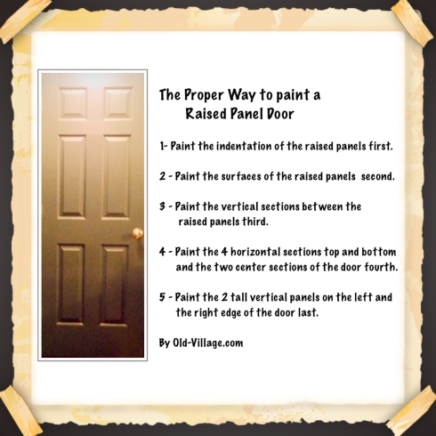 How To Paint a Raised Panel Door