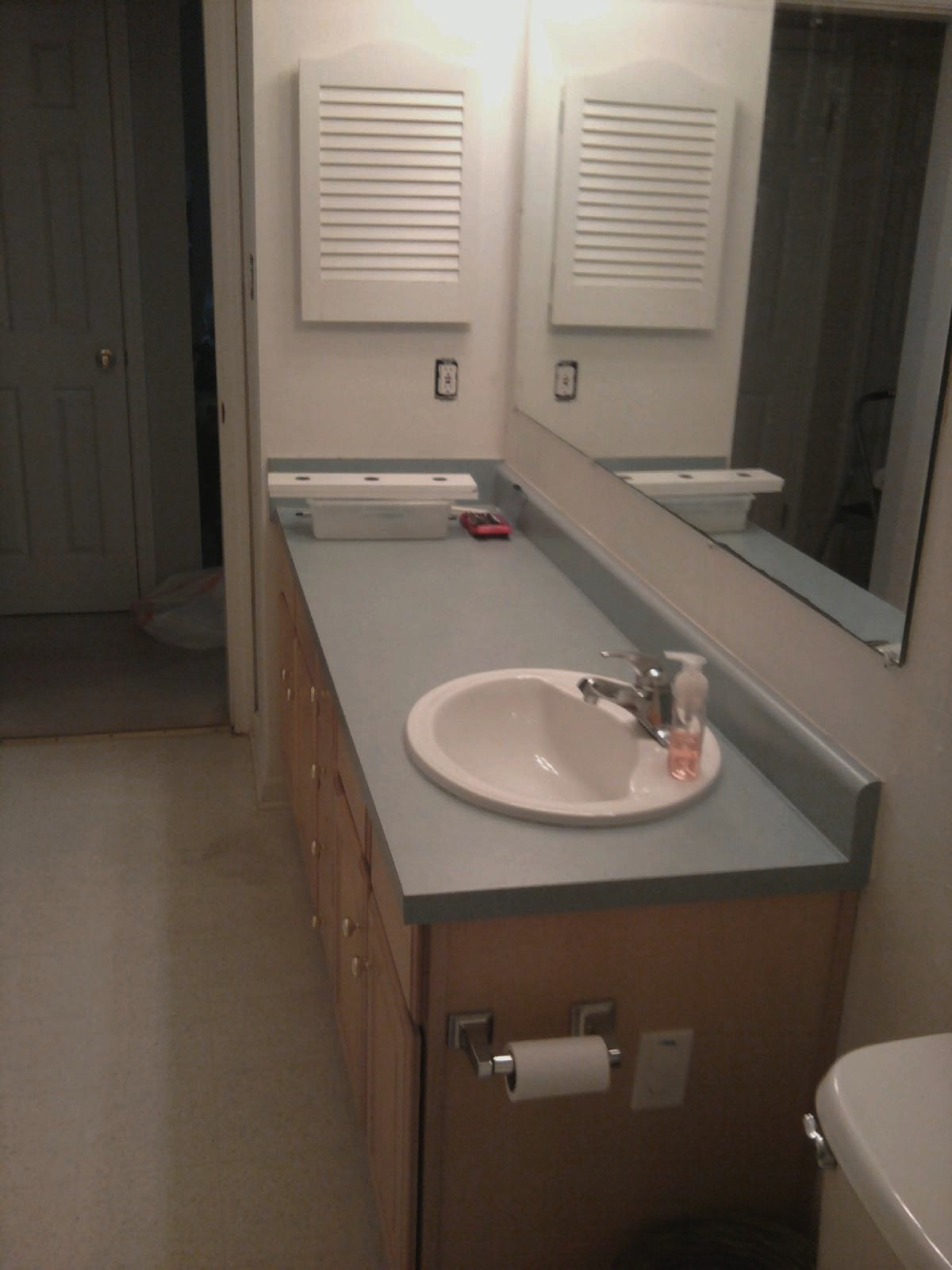 Bathroom Redo From Coastal To Primitive Old Village Paint