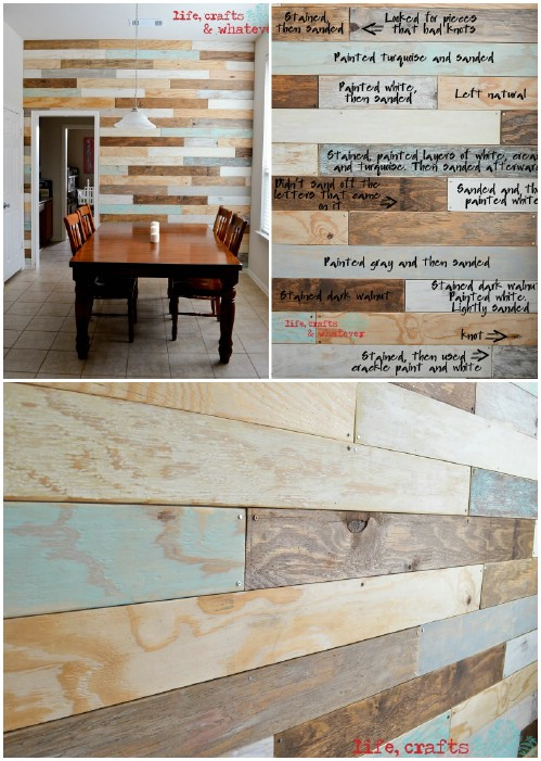 Wooden Plank Wall ~ Create a wood planked wall old village paint