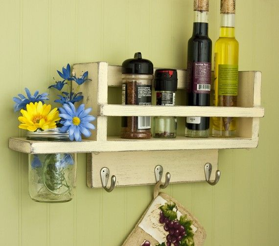 Primitive or Country Kitchen Spice Racks | Old Village Paint