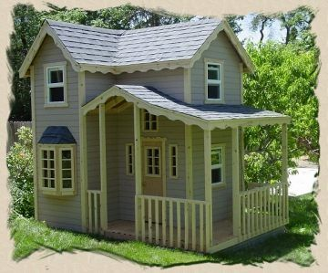 Project ideas old village paint - Excellent kid garden decoration using various cool playhouse ...